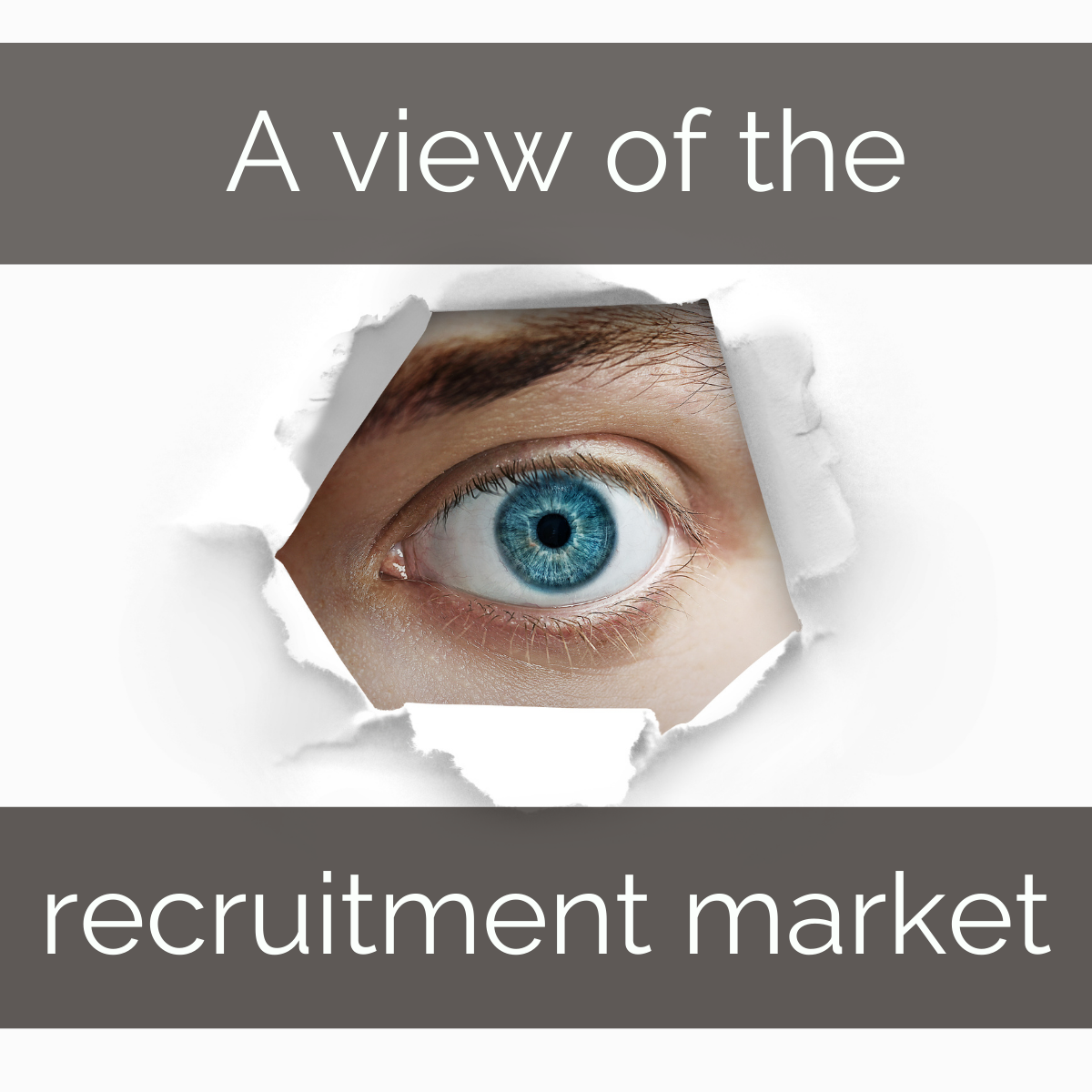 view of the recruitment market